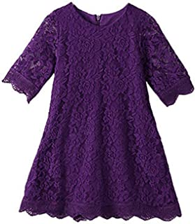 f3cbdac7e251 CVERRE Flower Girl Lace Dress Country Dresses Sleeves 1-6 7-16