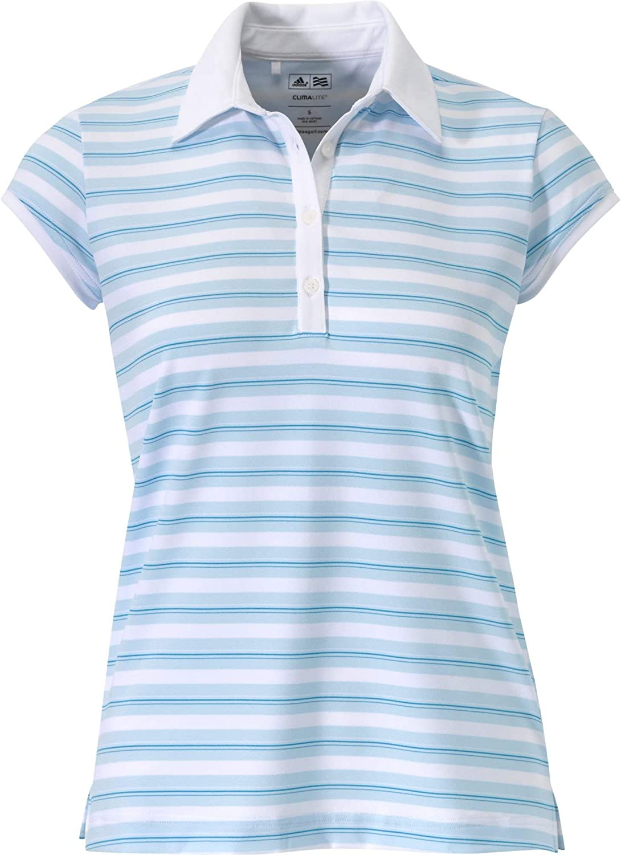 adidas Womens Kansas City Mall ClimaLite Miami Mall Stripe Merchandising Polo