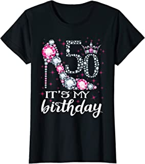 Womens 50 It's My Birthday 1969 50Th Birthday Gift Tee For Womens