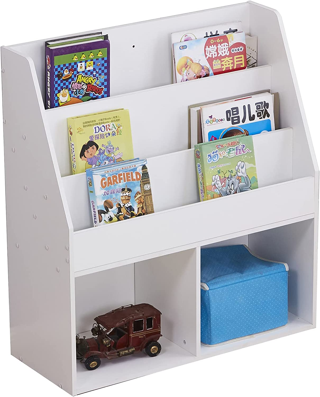 4-Shelf Wood Bookcase Freestanding Max 70% OFF Bookshelf Storage Display Uni Max 71% OFF