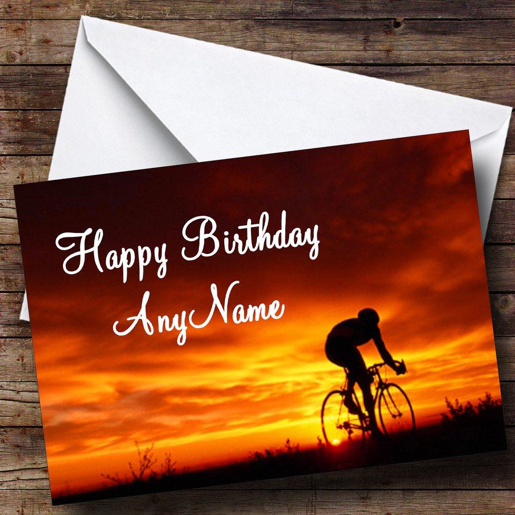 Ciclismo bicicleta personalizada cumpleaños tarjeta de ...