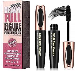 2PCS 4D Silk Fiber Eyelash Mascara, Extra Long Lash Mascara and Thick, Long Lasting, Waterproof & Smudge-Proof Eyelashes