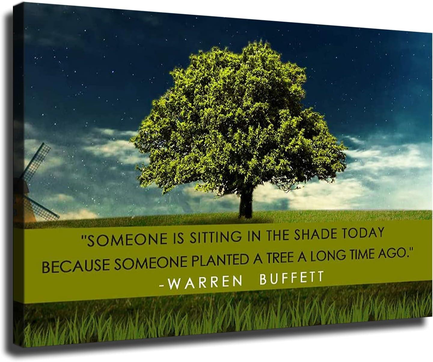 Modern Simple Motivational Ranking TOP3 Austin Mall Success Tree Painting Buffett Warren