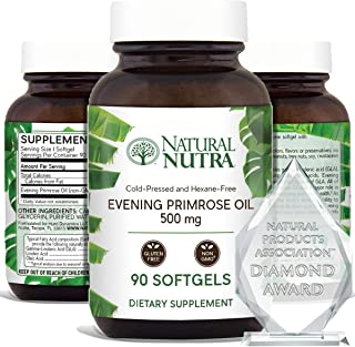 Natural Nutra Evening Primrose Oil Supplement from Fatty Acid, Reduce Acne, Balance Hormones, Reduces Menstrual Cramping, ...
