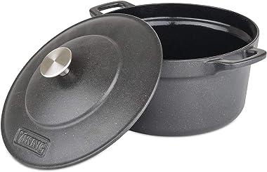 Viking Culinary 40351-0325 Viking Enamel Cast Iron, 5 Quart Dutch Oven, Charcoal
