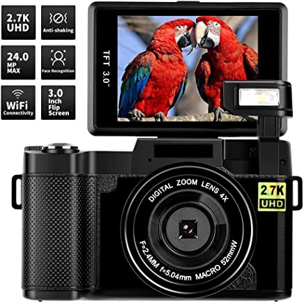 Digital Camera Vlogging Camera,24MP Ultra HD 2.7K WIFI...