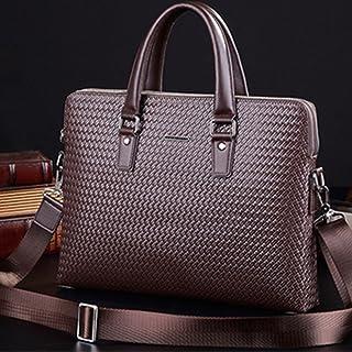 "Men's Accessories Black/Brown,Men's Portable Business Briefcase 13"" Laptop Handbag Shoulder Messenger Crossbody Satchel Casual Bag Organizer Outdoor Recreation (Color : Brown)"