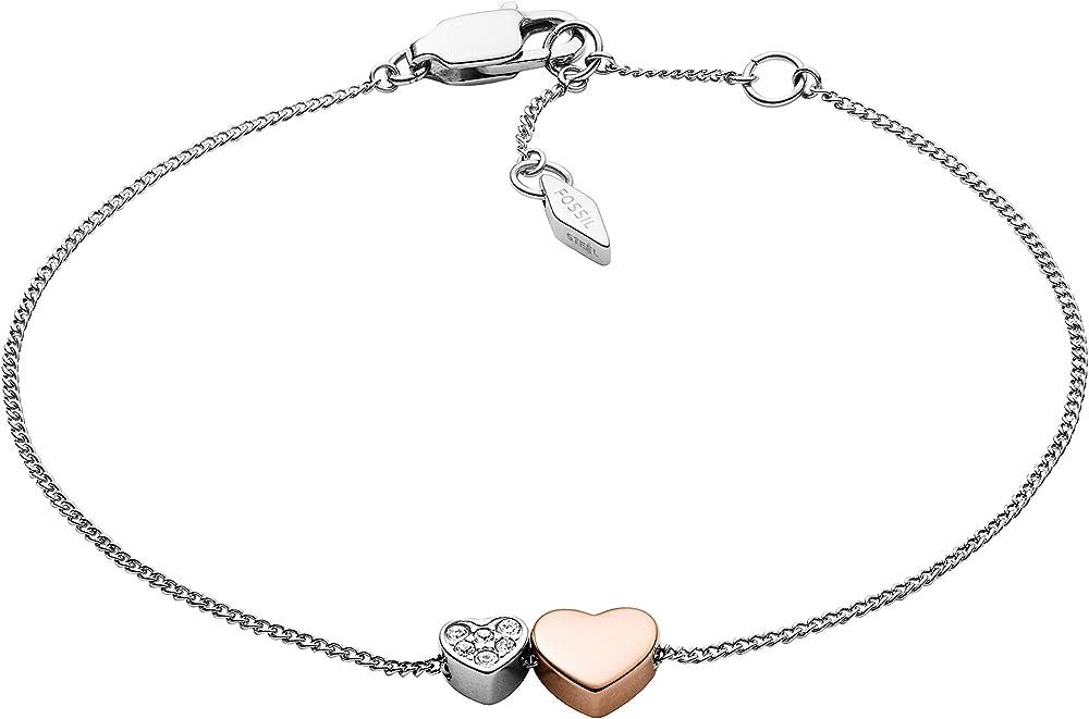Fossil gioielli bracciale bangle da donna in acciaio inossidabile JF03095998