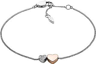 Women's Stainless Steel Silver-Tone Chain Bracelet