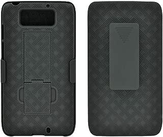 OEM VERIZON Black Shell CASE Belt Clip Holster Stand for Motorola Droid MAXX XT1080M