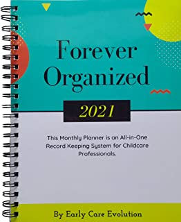 Daycare Provider 2021 Weekly-Monthly Planner & Calendar: 8.5 x 11, All-in-One Record Keeper System for Childcare Professio... photo