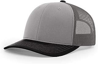 Twill Mesh Back Trucker Snapback Hat -- Grey/Charcoal/Black