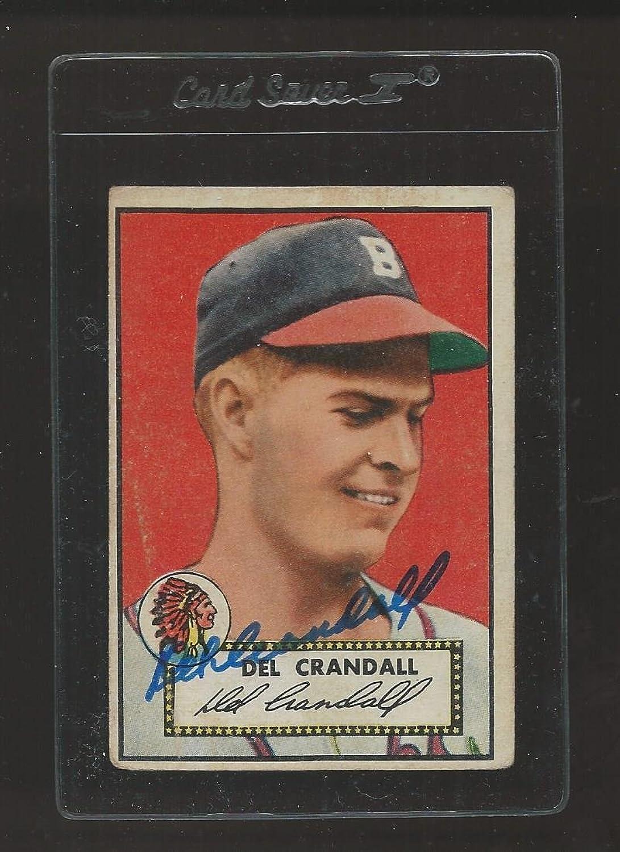 Del Crandall Signed Auto 1952 Topps  162 Baseball Card Autograph  Baseball Slabbed Autographed Cards