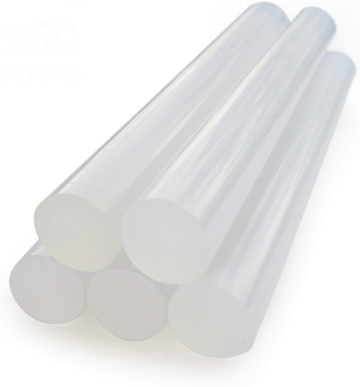 Rapesco Batons de Colle Type H Extra Longs 150 x 7 mm (Lot de 50)