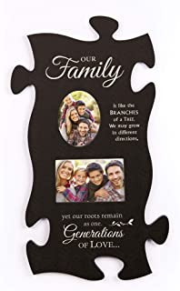 P. Graham Dunn Our Family Branches of a Tree Black 22 x 13 Wall Hanging Wood Puzzle Piece Photo Frame