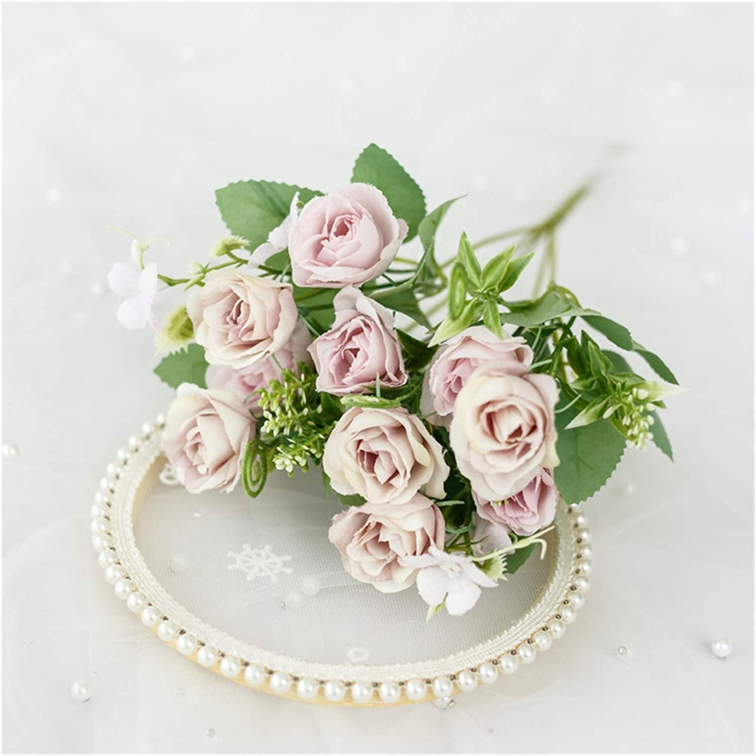Direct sale of manufacturer JSJJAES Artificial Flowers 10 Beautif Heads Los Angeles Mall Rose Silk