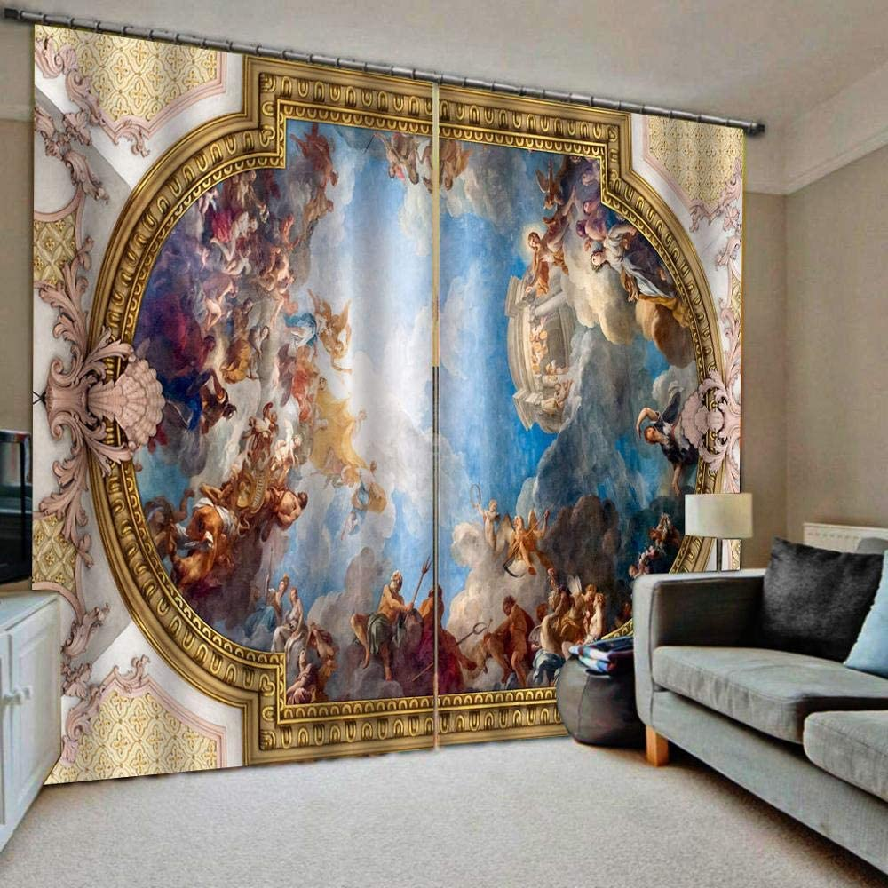Minyose European Manufacturer Popular standard regenerated product 3D Curtains Angel Design Living for Ro