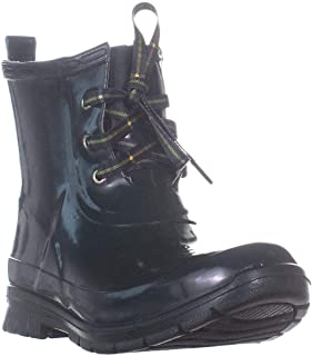 Charter Club CC35 Traynor Lace Up Ankle Rain Boots, Dark Green