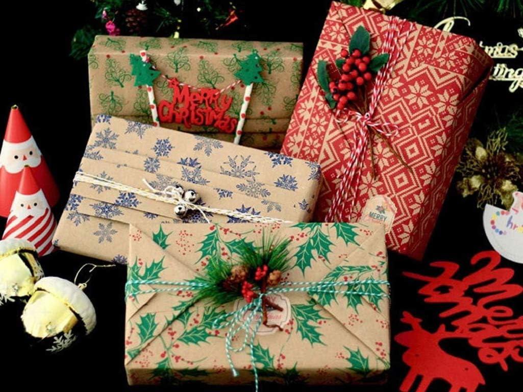 E Geschenkpapier Weihnachten UMIPUBO Kraftpapier Geschenkpapier Geschenkpapier zum Geburtstag 3//6//10pcs Vintage Geschenkpapier