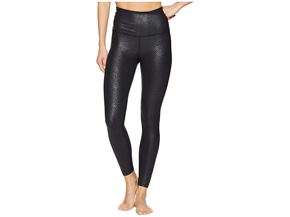 Beyond Yoga Viper High-Waisted Midi Leggings (Viper Black) Women