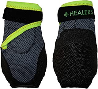 Healers Dog Boots for Paw Protection with Non Slip Sole, Reflective Pet Booties, 1-Pair