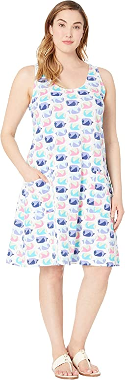 Plus Size Fish School Drape Dress
