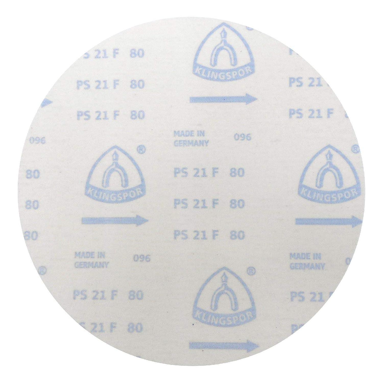   5 St/ück K/örnung: 100 ungelocht /Ø 300 mm Klingspor PS 21 FK Schleifscheibe GLS 0