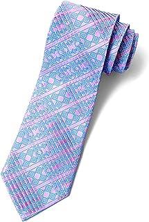 STEFANO RICCI (ステファノリッチ) ネクタイ 高級 ブランド イタリア プリーツタイ 御洒落 メンズ 紳士服 ピンク スカイブルー 9.5cm