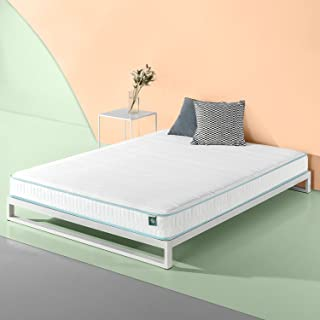 Zinus 6 Inch Mint Green Memory Foam Hybrid Spring Mattress, Full