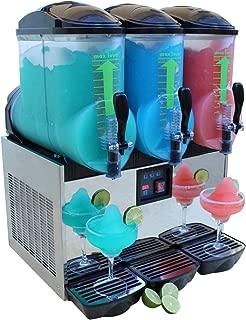 BRAVO ITALIA 3 bowls Slushie machine, 3.2 gallons each bowl, 150 CUPS, COMMERCIAL GRADE, Margarita Maker, Slushie Maker, Margarita Machine, Frozen Beverages Dispenser, Slushy Machine
