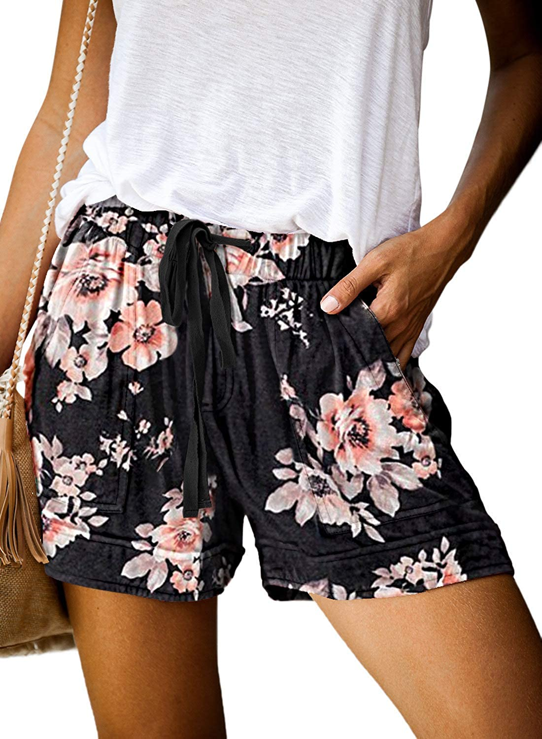 Outlet sale feature Uusollecy Women's Casual Shorts Waist Drawstring Columbus Mall Elastic