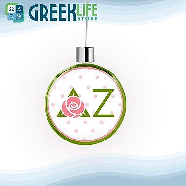greeklife.store Delta Zeta Round Flat Ornament Christmas Decor