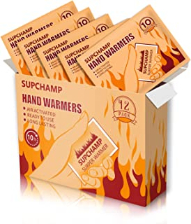 comprar comparacion Supchamp Calentadores de Manos, 12 PCS Calentadores Desechables de Bolsillo para Manos, hasta 10 Horas de Calor, Almohadil...