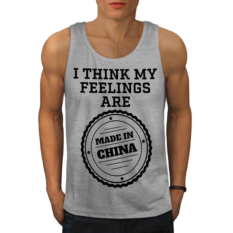 Wellcoda 中国 思い 冗談で おもしろいです 男性用 S-2XL タンクトップ