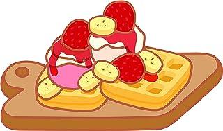 Strawberry and Vanilla Ice Cream Waffle Cone Pattern T-Shirts 3dRose Russ Billington Patterns Chocolate