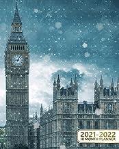 18 Month Planner 2021-2022: Big Ben & Westminster Bridge 18-Months Weekly Inspirational Organizer & Schedule Agenda - Two ...