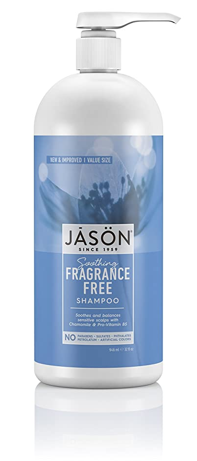 海外直送品Jason Natural Products Fragrance Free Shampoo, 32 oz