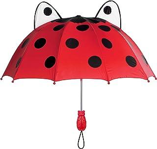 Kidorable Red Ladybug Umbrella for Girls w/Fun Ladybug Handle, Pop-Out Eyes, Polka Dots