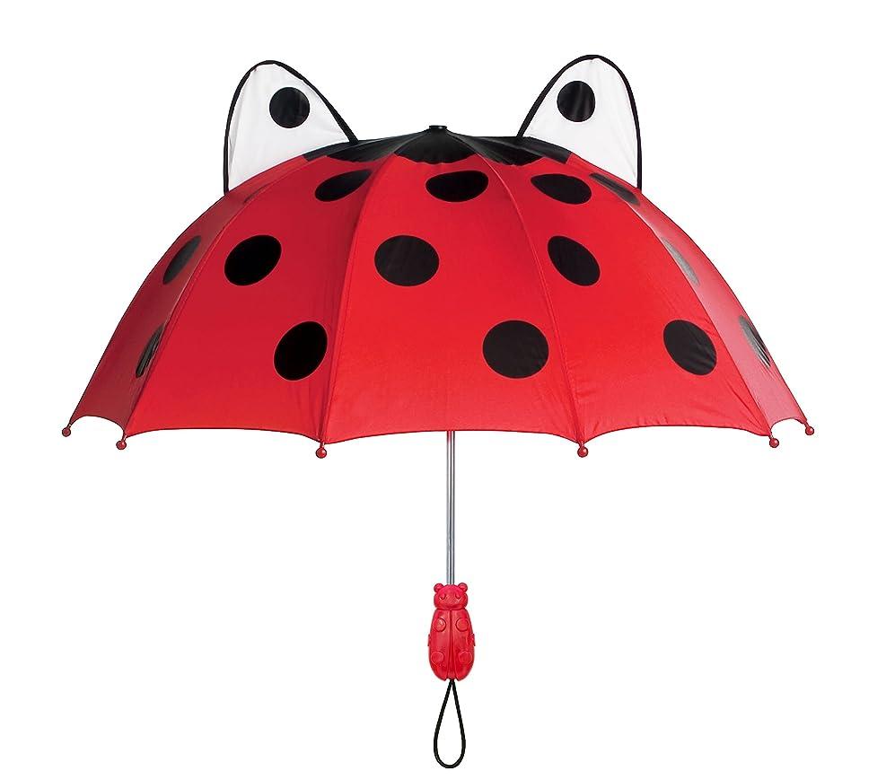 ブルーム連邦なんでもKidorableレッドテントウムシ傘のガールズW/Funてんとう虫ハンドル、pop-out目、ポルカドット