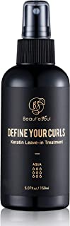 Beaute Seoul Curl Defining Leave in Keratin Treatment for Damaged Wavy Curly Natural Hair | Professional Curly Hair Products | Anti Frizz, Detangler, Heat Protectant Spray for Hair