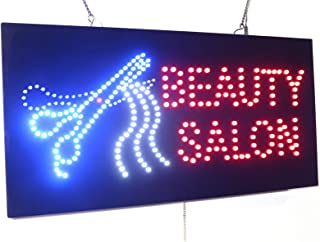 Beauty Salon Scissors Sign, Super Bright LED Open Sign, Store Sign, Business Sign, Window Sign