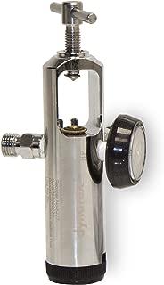 Dynarex Brass Oxygen Regulator with Barb Outlet, 0-25 Liters/Minute, 1.4 Pound