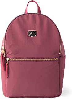 Freshly Picked - City Pack Diaper Bag Backpack - Large Internal Storage 10 Pockets Water-Resistant Nylon Fabric - Berry Pink