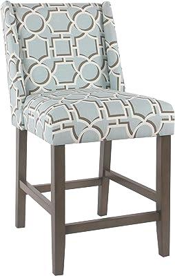 Prime Amazon Com Homepop Upholstered Counter Height Barstool 24 Ncnpc Chair Design For Home Ncnpcorg