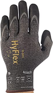Ansell 11-931-10 Cut Resistant Gloves (825729) - Size 10, Dark Gray (1 Pair)