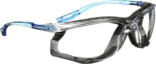 new arrival 3M Safety wholesale Glasses, high quality Virtua CCS, ANSI Z87, Anti-Fog, Clear Lens, Blue Frame, Corded Ear Plug Control, Removable Foam Gasket outlet online sale