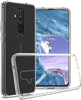CoverON Hard Slim Fit ClearGuard Series for Nokia 8.1 Plus Case (2019) transparent F18-CO-NK81PLUS-HY8-CL