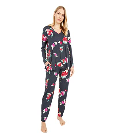 N by Natori Floret Obi PJ Set (Black Obi) Women