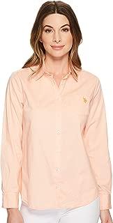 Women's Solid Single Pocket Long Sleeve Shirt