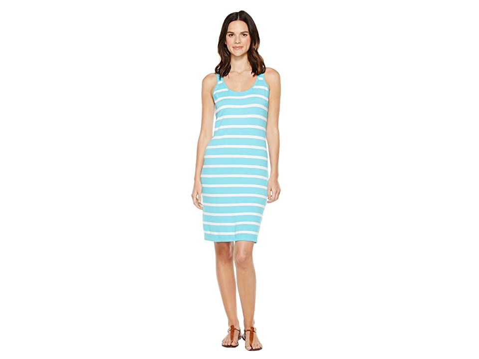 Tommy Bahama Pickford Stripe Short Dress (Clear Ocean) Women's Dress, Blue